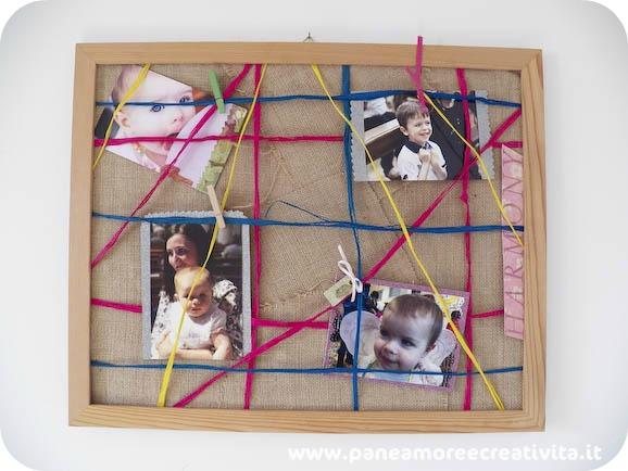 Idee per la casa come fare una bacheca portafoto pane for Una cornice a casa libera
