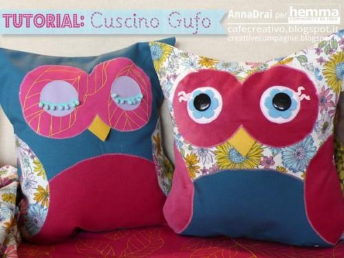 Idee per cucito creativo: il cuscino gufo da realizzare con i tessili Ikea