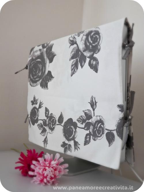 Il mio tutorial, per cucire una copertura per monitor, ospite di Hemma Ikea