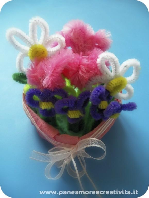 vase of flowers chenille