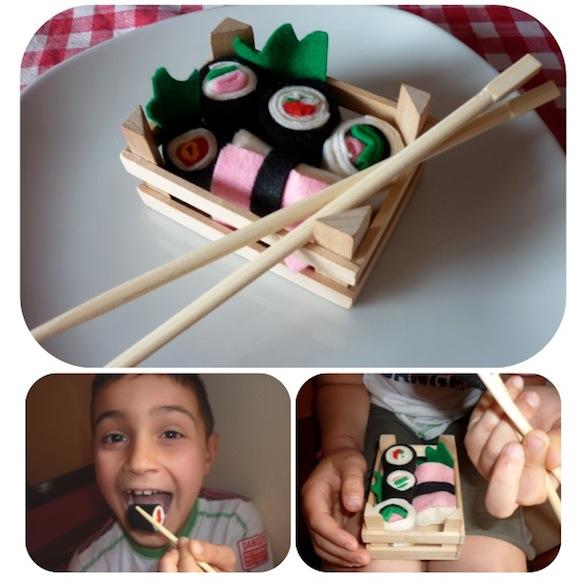 Cibi gioco: il sushi di pannolenci