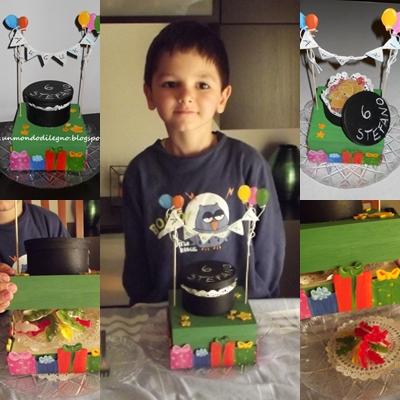 Giochi fai da te: la torta collage
