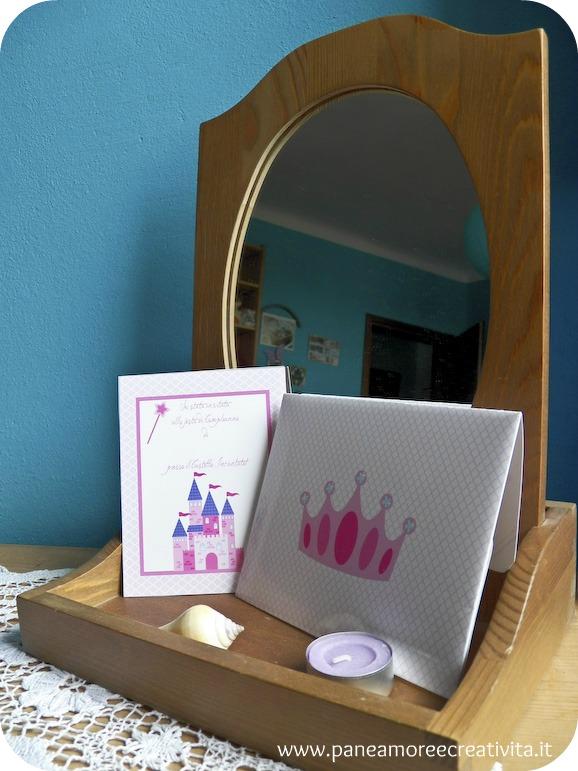 Inviti per il compleanno da stampare: la principessa