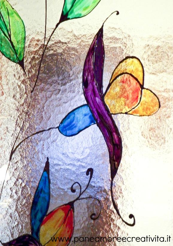 A scuola di creativit come si fa la pittura su vetro - Contorno porte interne ...