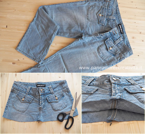 abbastanza Come fare una borsa con un paio di jeans | Pane, Amore e Creatività CR75