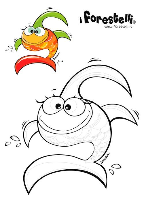 Disegni da colorare il pesce pesciolotta for Disegni pesciolini da colorare