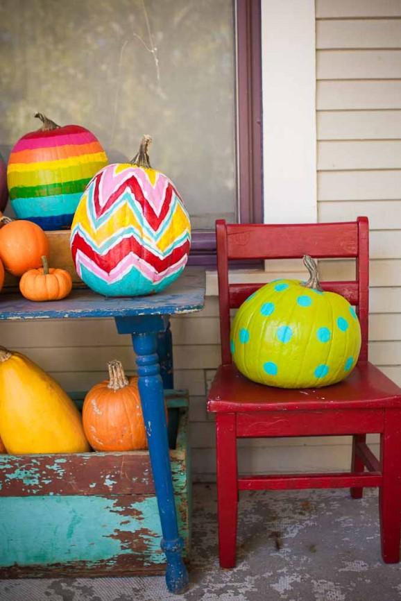 Zucche Ornamentali Per Halloween: Idee originali per decorare le zucche di ha...
