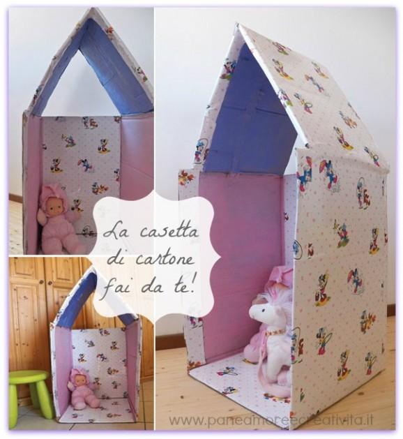 Giochi fai da te come fare una casetta di cartone - Casa di cartone ...