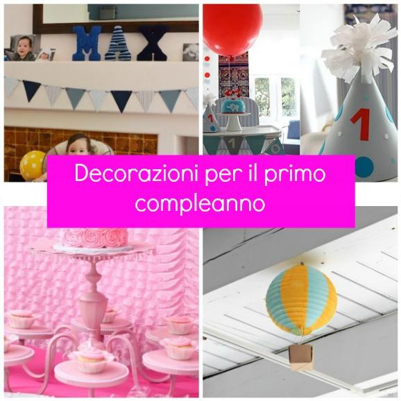 Préférence Decorazioni per il primo compleanno fai da te | Pane, Amore e  DH13