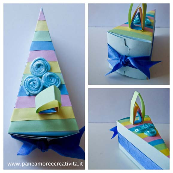 Très Bomboniere fai da te: la scatolina in blu per il battesimo - Pane  EG58