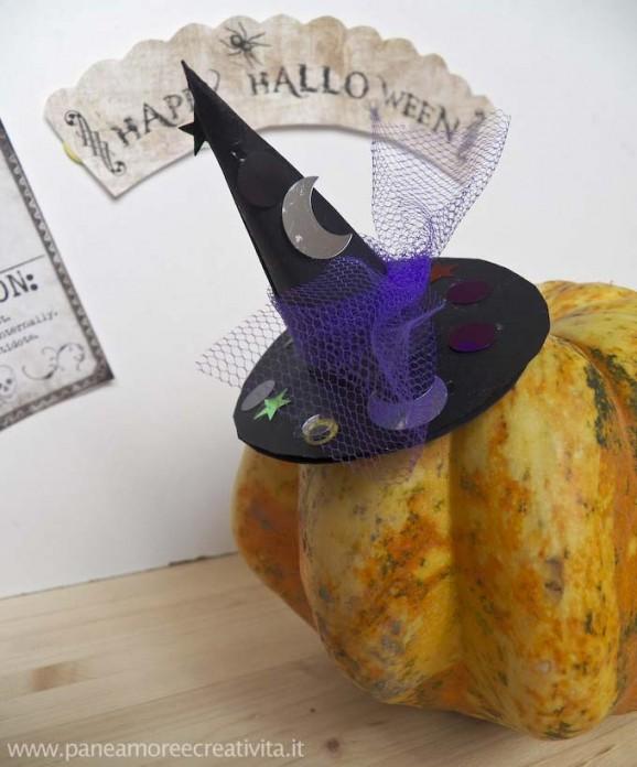 Decorazioni halloween il cappello da strega fai da te - Decorazioni fai da te per halloween ...