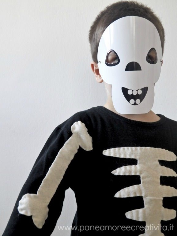 Halloween fai da te il costume da scheletro pane amore for Papillon bambino fai da te