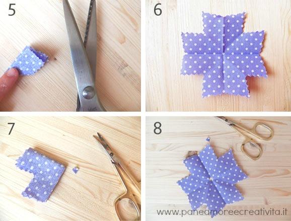 Riciclo come fare i fiori con i campioni di tessuto for Fiori di stoffa shabby chic