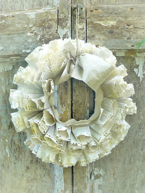 Decorazioni shabby chic come fare una ghirlanda di carta - Decorazioni shabby ...