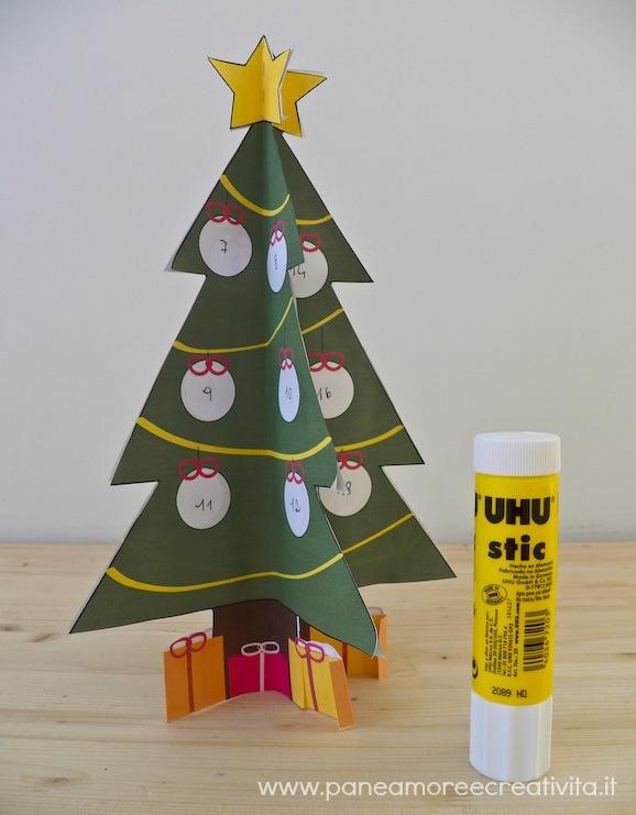 Lavoretti Per Albero Di Natale.Lavoretti Di Natale L Albero Dell Avvento