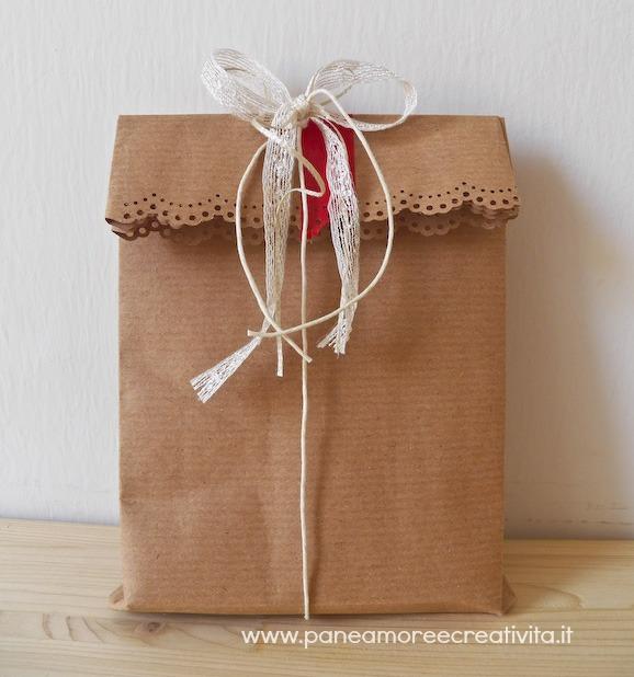 Favorito Confezione regalo fai da te: come fare una busta di carta | Pane  BF83