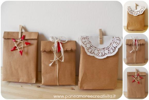 Confezione regalo fai da te come fare una busta di carta - Decorazioni per feste fai da te ...