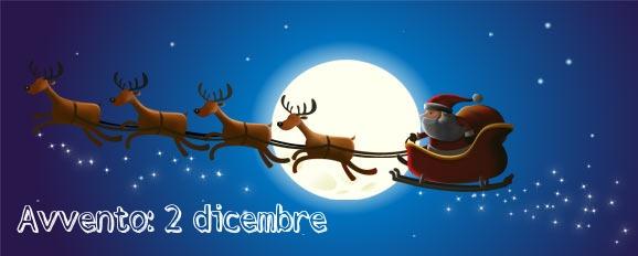Calendario dell'avvento giorno 2: la pallina per l'albero con Babbo Natale