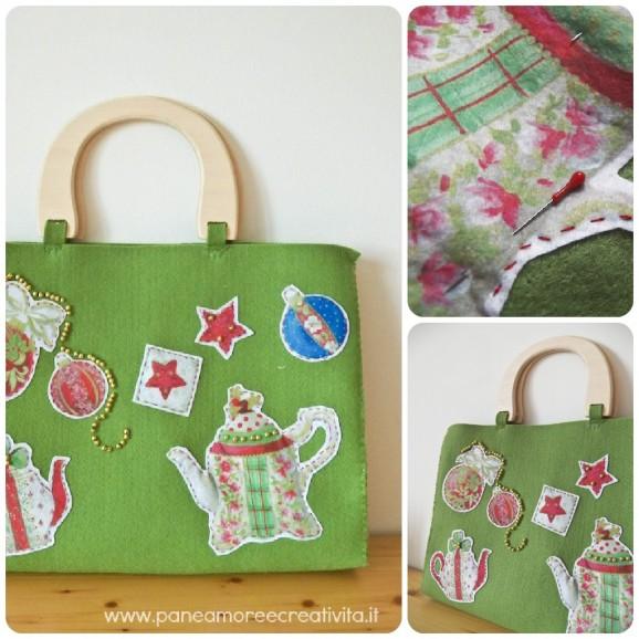 Famoso Tutorial: come fare una borsa di Natale in feltro | Pane, Amore e  QW31