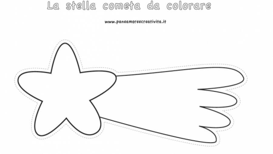 stella da colorare
