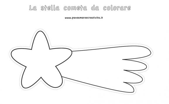 Stella Cometa Da Colorare Stampae Colorare