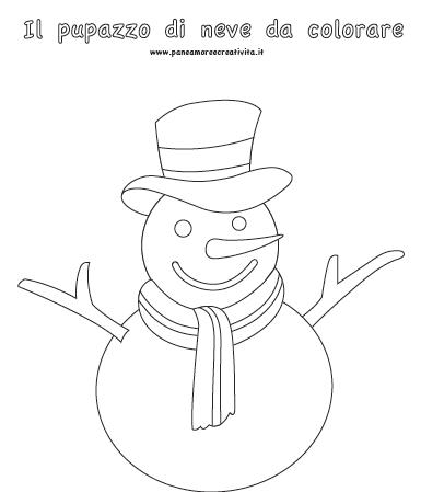 Calendario Dell Avvento Giorno 18 Il Pupazzo Di Neve Da Colorare
