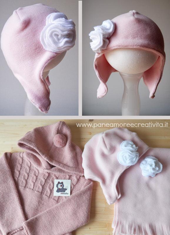 Tutorial  come fare cappello e sciarpa di pile per i bambini acab4995c9b5