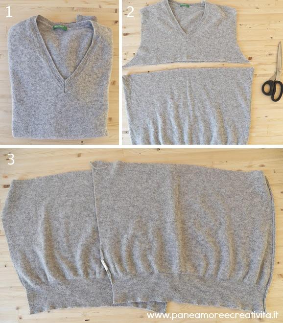 Molto Tutorial di cucito: il maglione riciclato diventa un cuscino  YO32