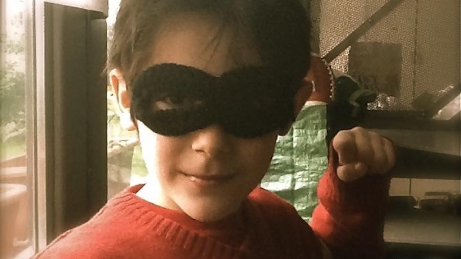 maschera carnevale uncinetto