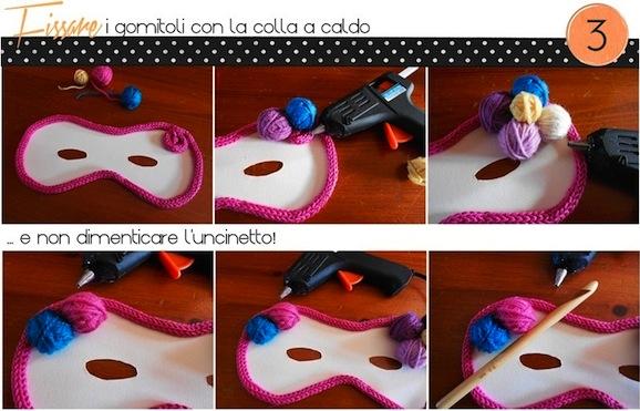 tutorial maschera di carnevale_incollare_uncinetto_handmadecoulture