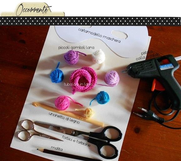 tutorial maschera di carnevale_occorrente_handmadecoulture