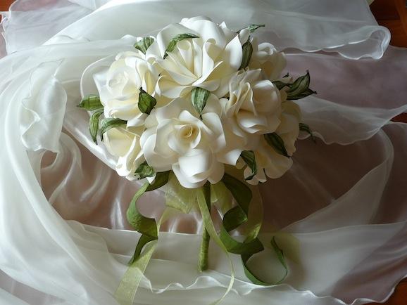 Bouquet rose di carta