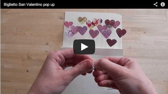 Biglietto Auguri Matrimonio Pop Up : Video tutorial biglietto di san valentino fai da te
