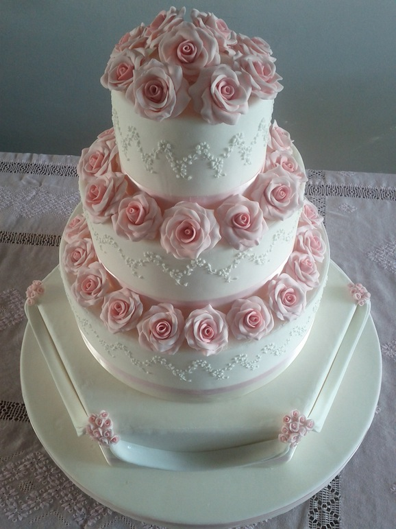 torta matrimonio con rose- vanessa netto
