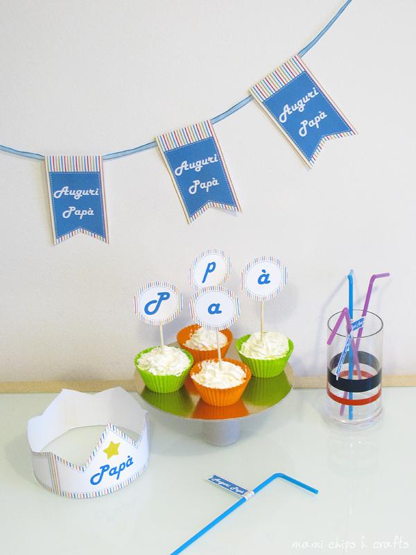 festa del papa- kit festa papa