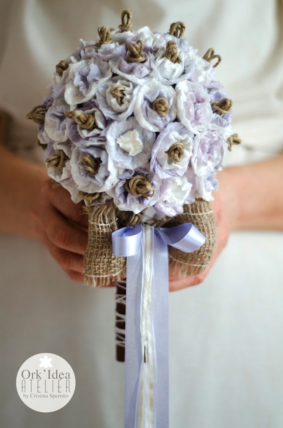Bouquet Sposa Carta.Come Fare Un Bouquet Da Sposa Con Carta Riciclata