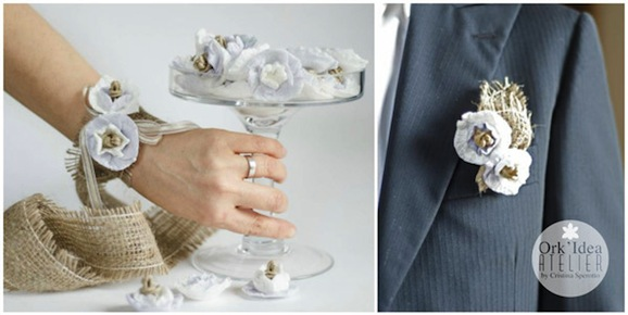 Come fare bracciale e boutonniere per sposi