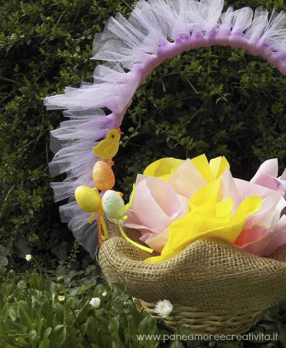 Decorazioni di Pasqua: il cestino di Pasqua per la caccia alle uova