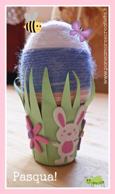 Lavoretti di Pasqua: come decorare un uovo con i fili di lana
