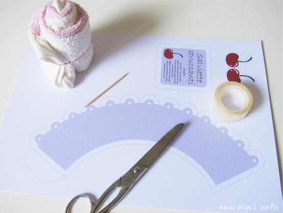 Piegare Asciugamani Forme : Festa della mamma asciugamani a forma di pasticcino · pane