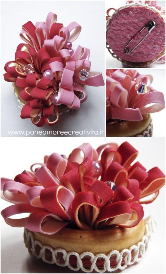 spilla bouquet-riciclo-guanti
