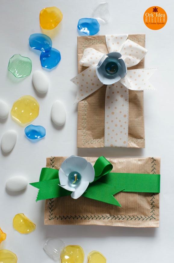Come fare una bomboniera riciclando carta e plastica