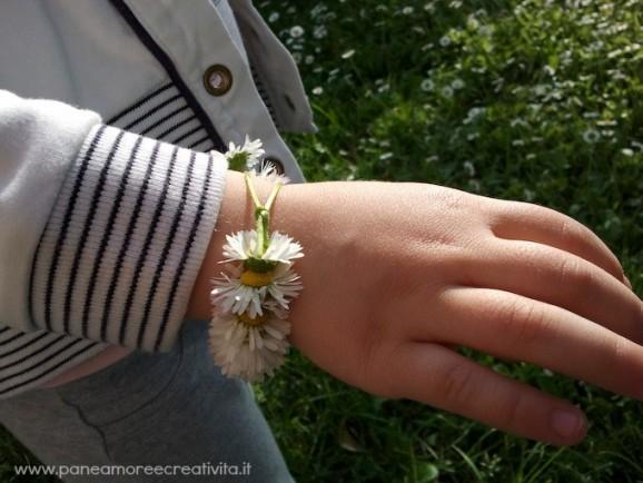 braccialetto di margherite