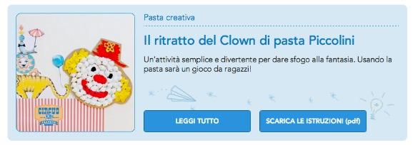 clown di pasta