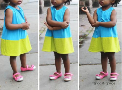 mini abito per bambina