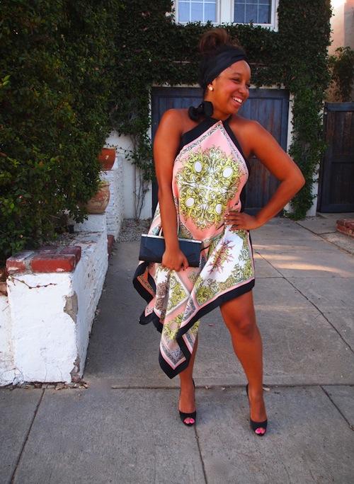 vestito di foulard