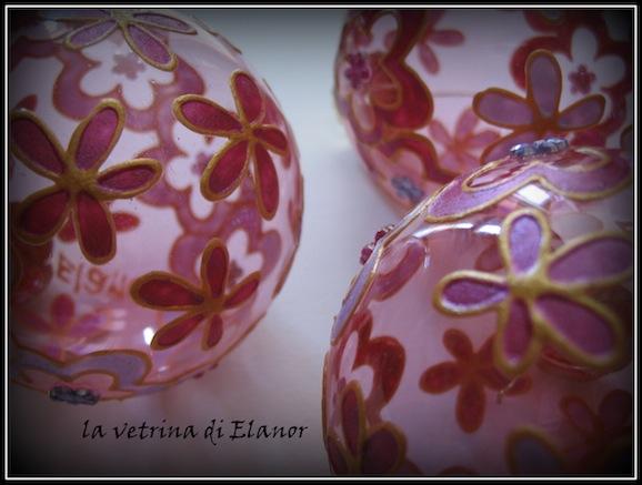 palline di vetro decorate