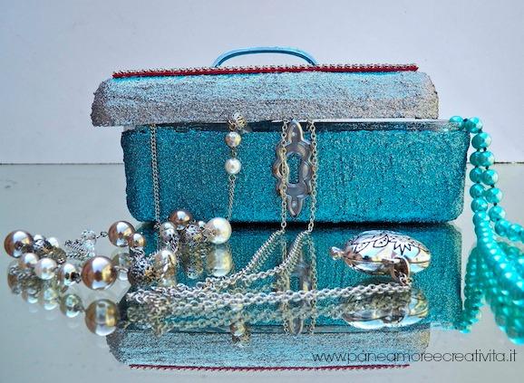 Riciclo la scatola dei Ferrero Rocher e la trasformo in uno scrigno portagioielli!