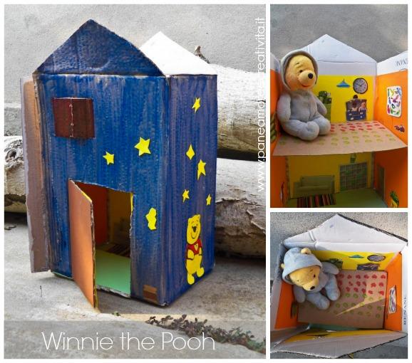 casetta di cartone winnie the pooh
