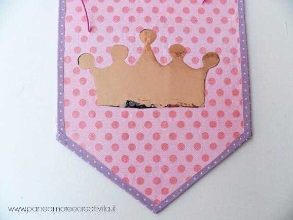 Compleanno da principessa fai da te lo stendardo con la for Carta specchio adesiva